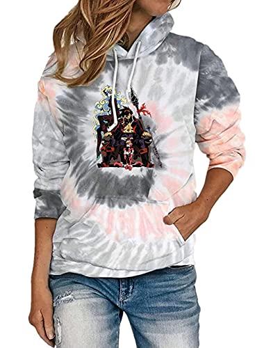 Tengen Toppa Gurren-Lagann Mujeres sueltas sudadera moda abrigos clásicos deportes entrenamiento jersey pequeño temperamento sudadera con capucha suave luz Outwear ( Color : Gray05 , Size : XL )