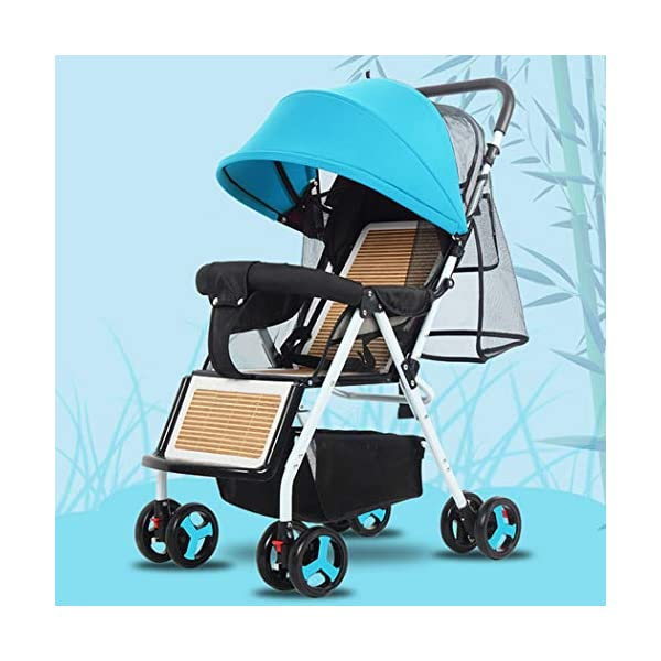 RAPLANC Baby stroller for 2020, Foldable stroller, Travel system, with extra storage space, four-wheel shock absorption, high view and stylish stroller,Blue RAPLANC Lightweight – A lightweight stroller makes any outing a little easier! The Convenience Stroller has a durable Aluminum frame that weighs just 9 pounds and has a large seat area, plus anti-shock front wheels and lockable rear wheels. 3-Position Recline – Keep your little one comfortable and safe at all times with the 3 position recline and 5 point safety harness. Compact Foldable Stroller – The easy compact fold with carry strap and auto lock makes it simple to store this lightweight umbrella stroller and bring it with you to go! Plus, the adjustable and removable canopy with flip out sun visor is perfect for sunny days. 1
