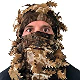 Arcturus Camo 3D Leaf Ghillie Camouflage Mask. Leafy, Full Coverage, Breathable Hunting Mask with Customizable Fit. Great for Turkey Season! (Forest Mix)