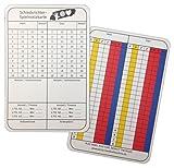 Schiedsrichter Notizkarten Handball 100 Stück - neue Generation Spielnotizkarten gem. aktuellem Reglement, deutsch