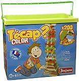 Jeujura - 8334- Jeux de Construction-Tecap Baril de Planchettes Color - 200 Pieces