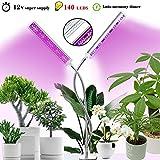 Molipat Pflanzenlicht 60W 140 LED Pflanzenlampe Neueste Version mit Automatische