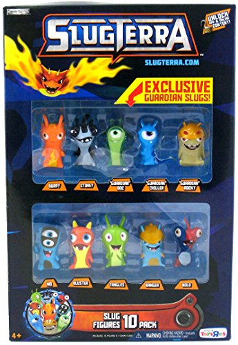 Slugterra, Exclusive Slug Figures 10-Pack [Includes 3 Exclusive Guardian Slugs] by SLUGTERRA