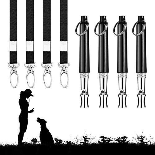 AirSMall 3 Stück Hundepfeife mit Pfeifenband Professionelle Hund Training Ultraschall Pfeife Hochfrequenz Verstellbar Schlüsselband Kontrolle Erlangen und Bellen Stoppen für Hundeausbildung