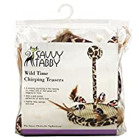 Savvy Tabby US5656 25 Wild Time Chirping Teaser Brown