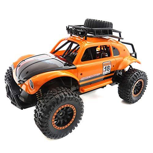 ZZKK Control Remoto RC Cars Juguetes 1/14 2.4Ghz 25Km / H Suspensión Independiente Spring Off Road Vehículo RC Crawler Car Kids Gifts,Orange