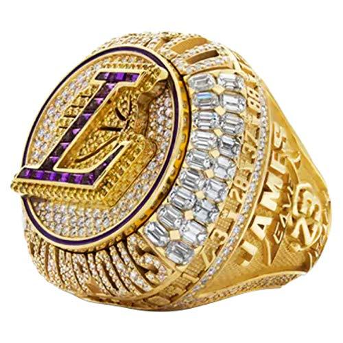 2020 Anillo De Campeonato De Lakers [Versión Oficial], Anillo Desmontable Réplica Lebron La Champions Ring con Caja De Madera para Fans De Colección Regalo,8
