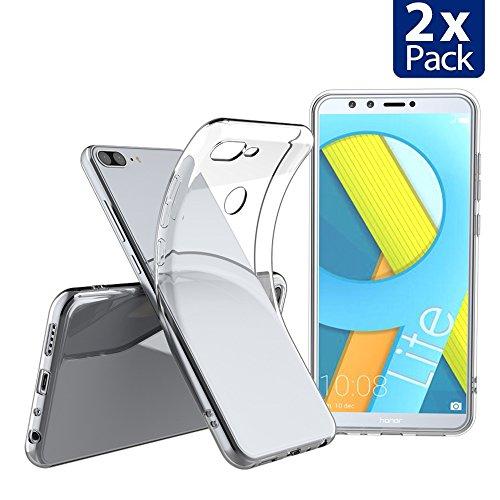 Elekin Hülle für Honor 9 lite, Huawei Honor 9 lite Hülle, Honor 9 lite Transparent Clear TPU SchutzHülle Hülle Hülle [2 Pack]