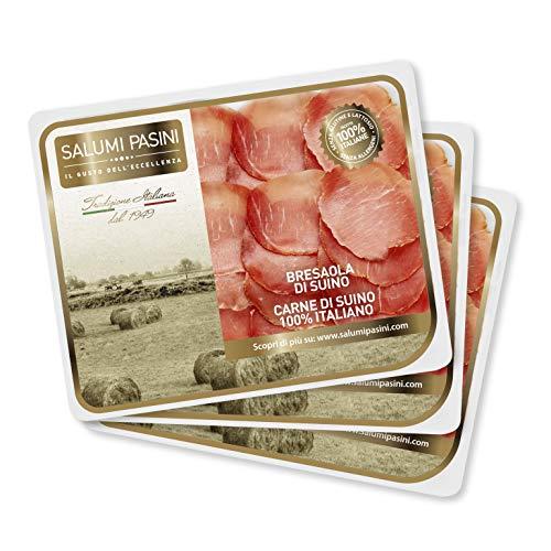 Bresaola de Porc, Plaisirs Quotidiens, 3 barquettes prétranchées, Salumi Pasini, 70 gr cad.