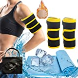 Arm Wraps for Weight Loss,Arm Trimmers for Women Flabby Arms, Slimming Compression Sleeve, Arm Trainers, Hot Neoprene Sauna Shaper for Workout(Yellow)