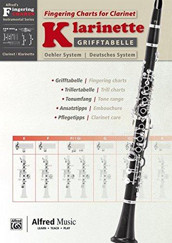 Alfred\'s Fingering Charts Instrumental Series: Grifftabelle Klarinette Deutsches System | Fingering Charts Bb-Clarinet Oehler System  |  Klarinette  |  Buch