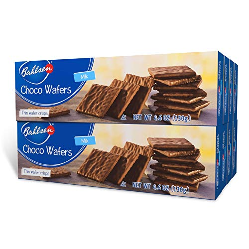 Choco Wafers Milk Chocolate Cookies (8 boxes) by Bahlsen- Wafers covered...