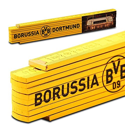 Borussia Dortmund Zollstock / Gliedermaßstab / Schmiege Signal Iduna Park BVB 09