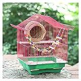 Bolsa de viaje Bird Jaula de pájaros de loro de lujo de alta gama Pequeña jaula de pájaros medianos modernos Hogar simple de pájaros Jaula de la jaula de cría Jaula de viaje para pájaros ( Color : B )