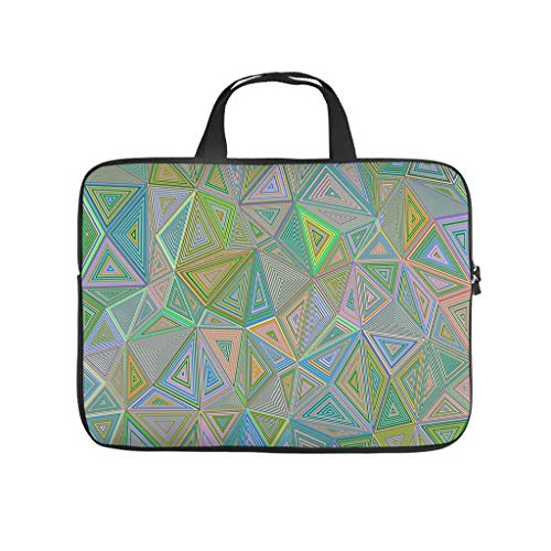 colorful Triangles Laptop bag Pattern Laptop Case Bag Customized Shockproof Laptop Handbag with Portable Handle for Women Men white 13 zoll