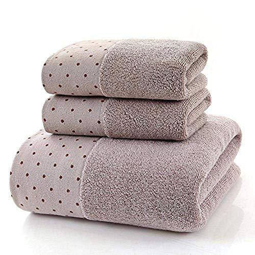 HGJINFANF Toalla de baño portátil para lavar una cara de algodón acolchada y absorbente, no puede dejar caer la palabra 70 x 140/marrón