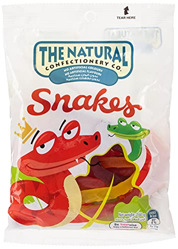 The Natural Confectionery Co The Natural Confectionery Co Snakes Lollies, 260 g