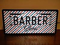 アメリカン雑貨 バーバー 理容室 ヘアーサロン BARBER SHOP 看板 置物 雑貨 LEDプラスチックライトBOX