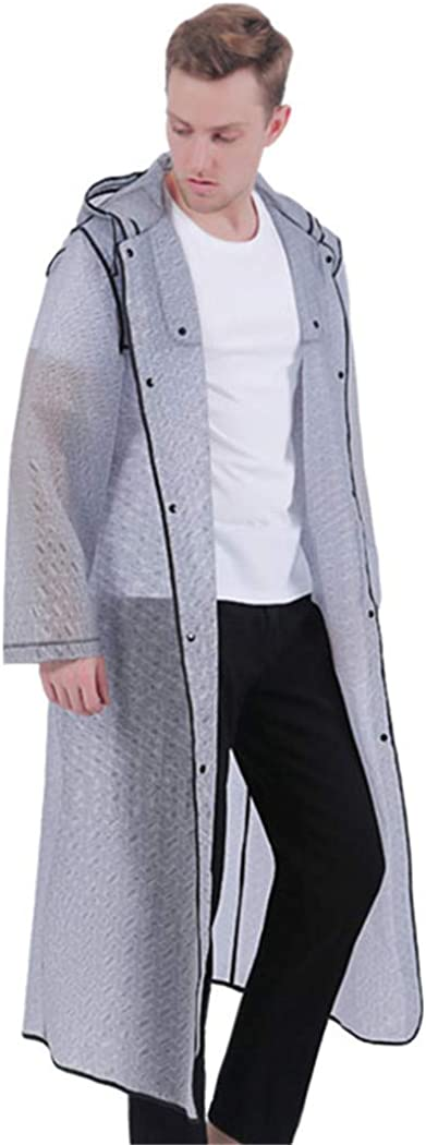 Long Plastic Men Bombing new work Raincoat Thick Geometric Hood Popular Poncho Waterproof