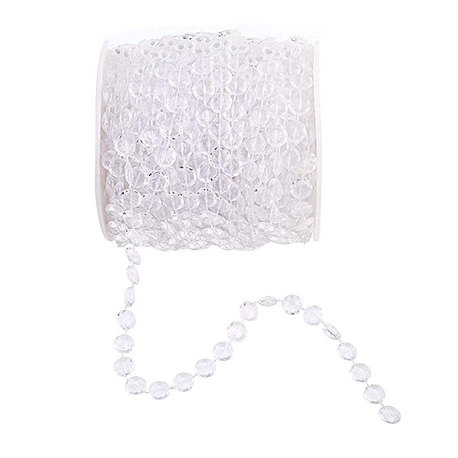 Goldenvalueable 99 ft Clear Crystal Like Beads by The roll Wedding Decorations
