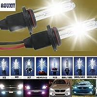 バイク 1平車ヘッドライトHID Xenon H7電球35W 55W 4300K 5000K 6000K 8000K 10000K 12000Kオートランプ12V H7キセノン電球フォグライト バイク led h4 led ヘッドライト ledヘッドライト フォグランプ (Color Temperature : 6000K, Emitting Color : Blue)