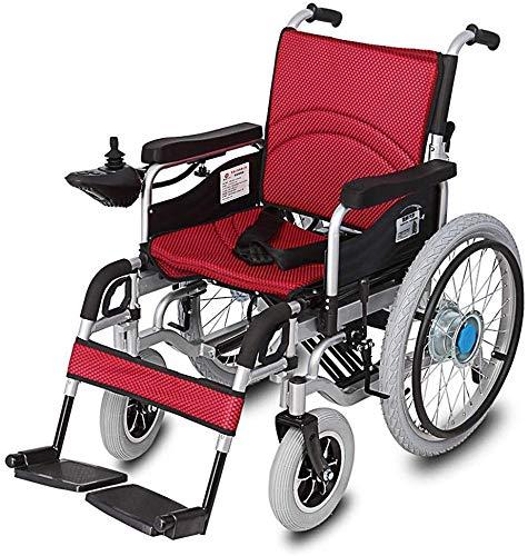 Dljyy Compact Mobility Aid Opvouwbare rolstoel, lichtklapbare Carry elektrische rolstoel, gemotoriseerde rolstoel, krachtige dual motor rolstoel IYG