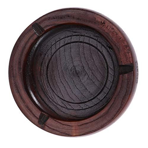CLISPEED Cenicero de madera para fumar de mesa redonda portacenizas, accesorios de dormitorio para hotel de oficina en casa (9 x 9 x 4 x 3 m)