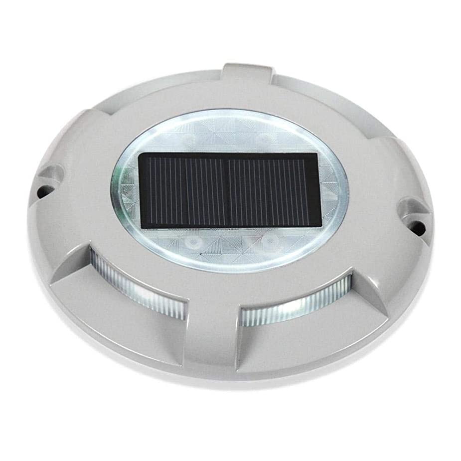 カタログ目に見える眠いですMatefieldjp 4LEDソーラーライト センサーライト LEDライト 路面表示灯 道路表示灯 防犯ライト 駐車場 道路鋲 ライト 耐荷重2トン 夜間自動点灯 防水 ガレージ/公園/コミュニティ適用