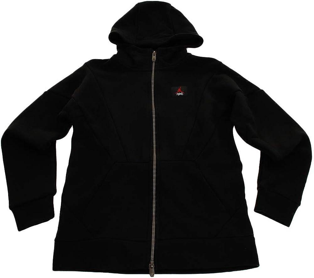 Nike Boy's (Big Kids) Jordan Sportswear Wings Lite Full-Zip Hoodie - Black (Large)