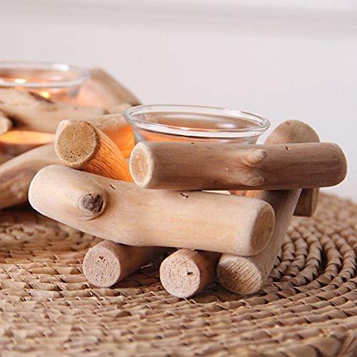 Kaarsenstandaarden 1pc natuurlijke Houten kaarshouder Theelicht kandelaar Festival Wedding Kandelaar Decor van het Huis Kandelaar