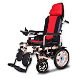 Electric Wheelchair Elderly Disabled Car Elderly Intelligent Automatic Portable Scooter Multifunctional Folding,Red