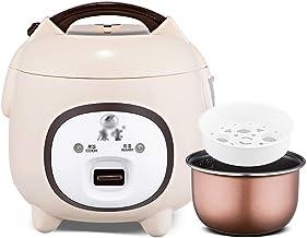 Rijstkoker (1,5L/350W) Huishoudelijke mini-rijstkoker met antiaanbaklaag, koken met één toets en automatisch warmtebehoud...