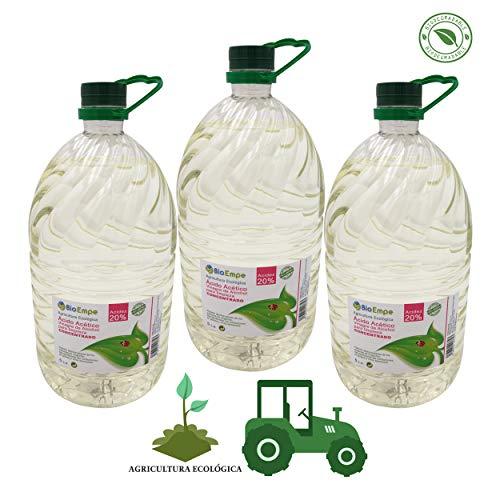 Herbicida Ecológico a Base de Vinagre Concentrado de Alcohol de Cereal al 20%. Caja de 3...