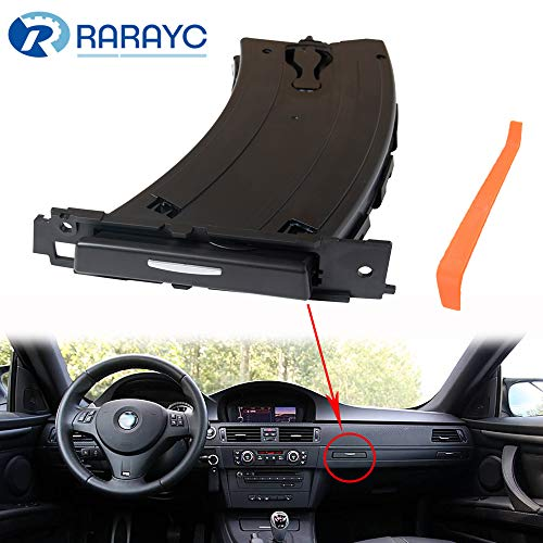 RARAYC Cup Holder Replacement for 2006-2013 BMW Accessories E90 E91 E92 E93 325 328 330 335 M3, Front Left and Black, Replaces 51459173463 with a Dashboard Removal Tool