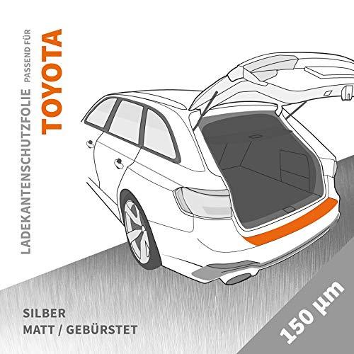 Ladekantenschutz Folie   Ladekantenschutzfolie › passgenau für: Toyota GT86 ab BJ 2012 ✓ Silber-Matt/Gebürstet ✓ Stärke 150 µm (0,15mm)
