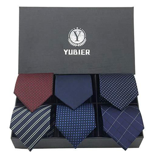 Yubier(ユービア)Yubier ネクタイ 6本セット ビジネス用3Free