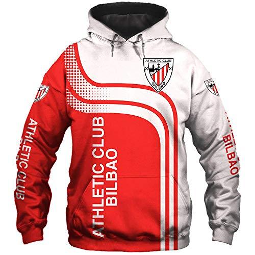 LIULL Sudadera con Capucha De Los Deportes De Fútbol Atlético C.B 3D Béisbol Camiseta De La Impresión Digital Adolescentes Uniforme Chaleco A-XL