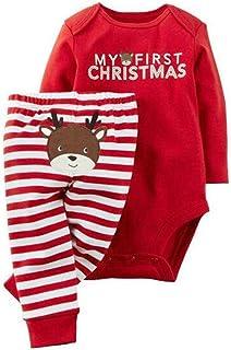 Kleines Kleid M/ädchen Baby-Strampler Weihnachts-Strampler Baby Weihnachtsoutfit Langarm Fu/ß WARM Minnie Mouse GR/ÖSSE 56 62 68 74 rot Neugeborene 0 3 6 9 Monate Geschenkidee Weihnachtlich