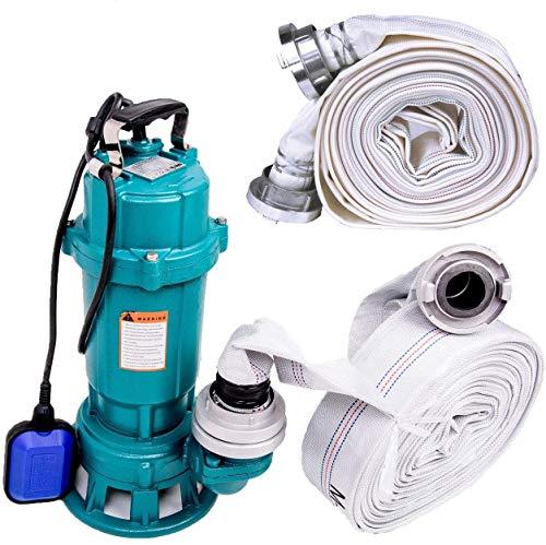 !! Profi !! Fäkalienpumpe Tauchpumpe Schmutzwasserpumpe mit Schneidwerk 1100 Watt Anschluß Druckseite 2