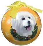 E&S Pets Adorno navideño de Navidad con Corte de Cachorro maltés inastillable