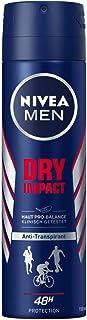 Nivea Men Dry Impact Deo Spray, Anti-Transpirant met 48 Uur Bescherming, 150 ml