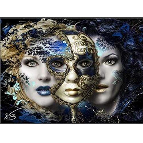 Vensf Diamant Schilderij 5D volboren masker dames kruissteek mozaïek set 3D strass decoratie thuis cadeau voor Kerstmis