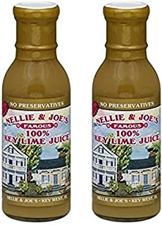 Nellie and Joes 100% Key Lime Juice, 12oz glass (Pack of 2)