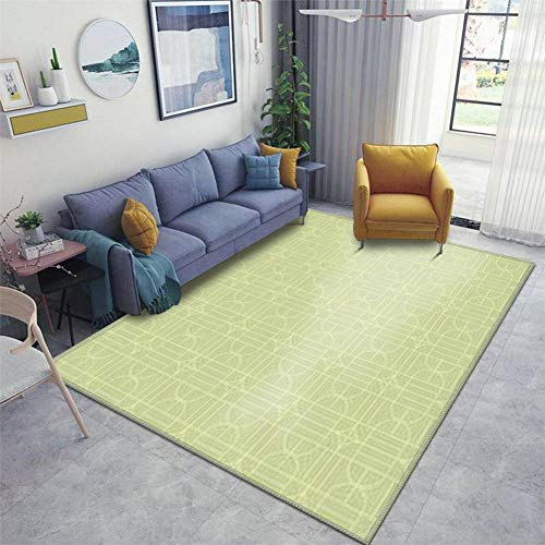 Home Area Runner Rug Pad Beautiful of Colorful Square and Quarter Circle Lines Repeated Thickened Non Slip Mats Doormat Entry Rug Floor Carpet for Living Room Indoor Outdoor Throw Rugs