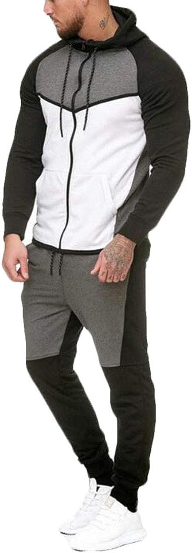 Domple Men's 2 Piece Piece Piece Sweatsuit Hoodie and Pants