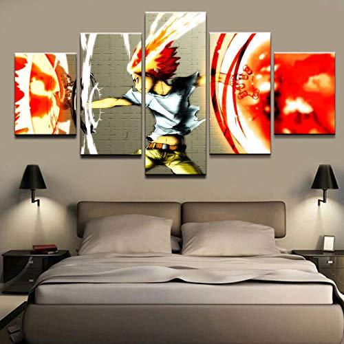 5 Pinturas de arte de parede em tela para sala de estar Impressão HD 5 peças/peças Anime Katekyo Hitman Reborn Imagens modulares Pinturas de decoração de casa em tela DDZZYY FUTYE