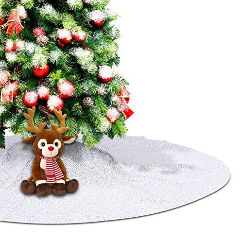 Eternal Beauty Weihnachtsbaum-Dekoration mit Pailletten, rund, 127 cm, Weiß