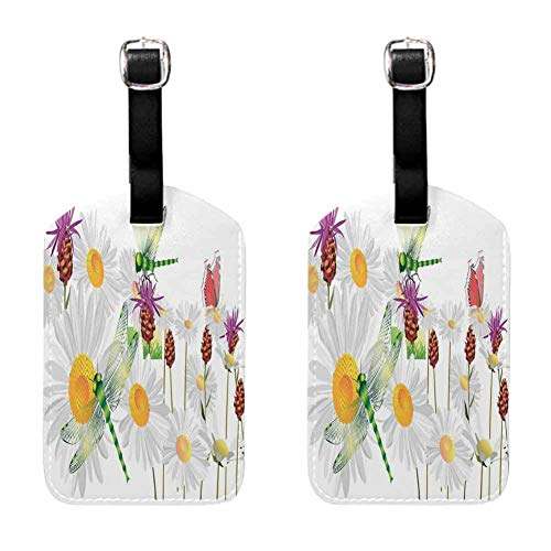 Multicolor Dragonfly Travel Tags For Travel Tags Accessories 2 Pack Luggage Tags