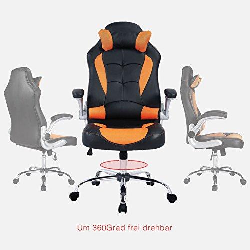 mecor Gaming Stuhl Racing Stuhl Leder Bild 6*