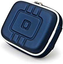 Limited Edition Dark Night Blue Eva Mini Hard Shell Lightweight Zipper Compact Carrying Protector Case for Canon PowerShot Series Point and Shoot Digital Cameras